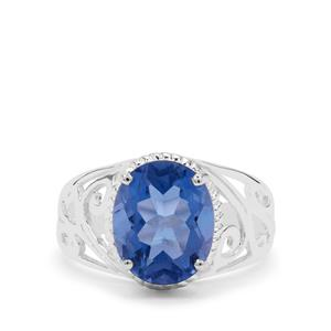 Colour Change Fluorite Ring in Sterling Silver 4.25cts