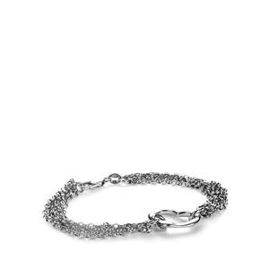 "7"" Sterling Silver Heart Chain Bracelet 8.11g"