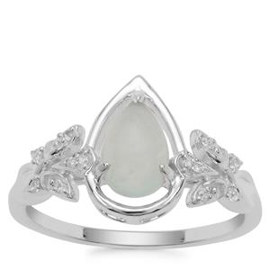 Gem Jelly Aquaprase™ Ring with White Zircon in Sterling Silver 0.97ct