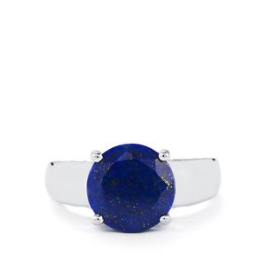 Sar-i-Sang Lapis Lazuli Ring in Sterling Silver 3.42cts
