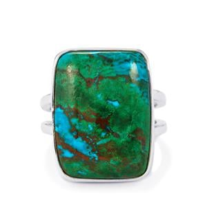 16ct Chrysocolla Sterling Silver Aryonna Ring