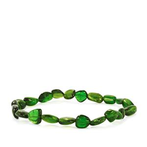 Chrome Diopside Tumbled Stretchable Diopside Bracelet 48cts