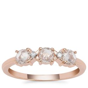 Rose Cut Ratanakiri Zircon Ring in 9K Rose Gold 0.87ct