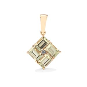 Csarite® Pendant with Diamond in 10k Gold 2.63cts
