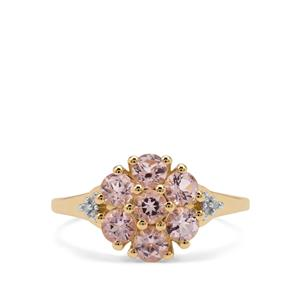 Cherry Blossom™ Morganite & Diamond 9K Gold Ring ATGW 1.07cts
