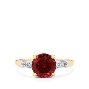 Umbalite Ring with Diamond in 10k Gold 2.62cts