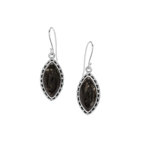 Midnight Seraphinite Earrings in Sterling Silver 14cts