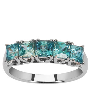 Ratanakiri Blue Zircon Ring  in Sterling Silver 2.32cts