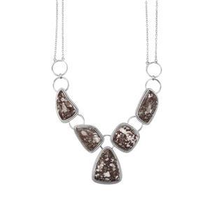 84ct Dinosaur Bone Sterling Silver Aryonna Necklace
