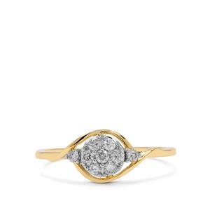 Diamond Ring in 9K Gold 0.27ct