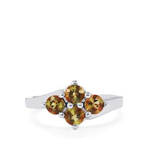 1.03ct Gouveia Andalusite Sterling Silver Ring