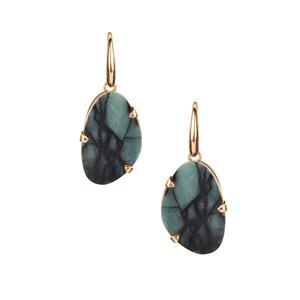 Emerald Sarah Bennett Earrings in 14K Gold Tone Sterling Silver 22.50cts