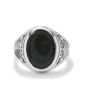Bloodstone Ring in Sterling Silver 5cts