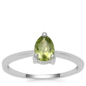 Changbai Peridot Ring in Sterling Silver 0.77ct