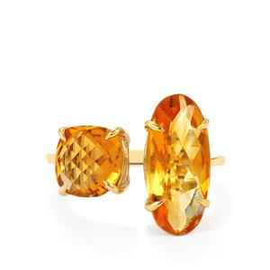 Rio Golden Citrine Ring in 9K Gold 5.84cts
