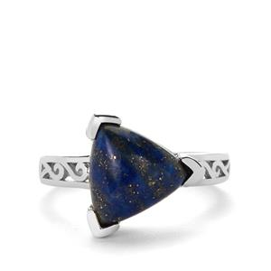 Sar-i-Sang Lapis Lazuli Ring in Sterling Silver 4.57cts