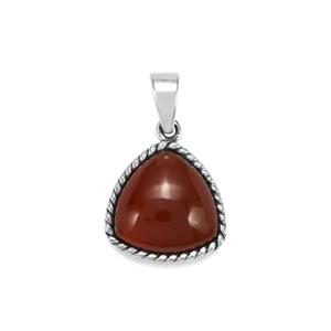 9.30ct American Fire Opal Sterling Silver Pendant