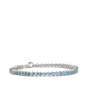 Swiss Blue Topaz Bracelet in Sterling Silver 5.28cts