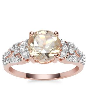 Serenite Ring with White Zircon in 9K Rose Gold 2.12cts