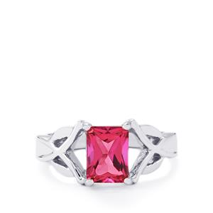1.91ct Mystic Pink Topaz Sterling Silver Ring