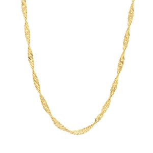 "24"" Midas Couture Singapore Slider Chain 2.72g"