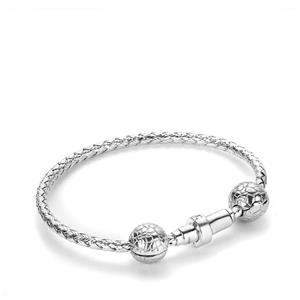 Gemporia Freedom Sterling Silver Magnetic Charm Bangle with 2 Stopper