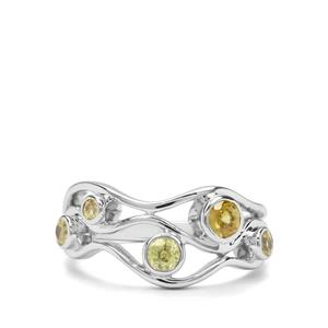 0.70ct Ambilobe Sphene Sterling Silver Ring
