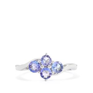 0.96ct Tanzanite Sterling Silver Ring