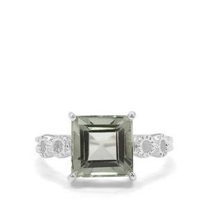 Prasiolite Ring in Sterling Silver 3.49cts