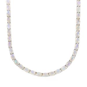 17ct Coober Pedy Jelly Opal Sterling Silver Necklace
