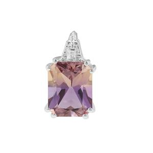Anahi Ametrine Pendant with White Zircon in Sterling Silver 3.01cts