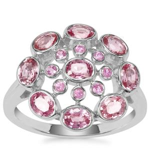 Sakaraha Pink Sapphire Ring in Sterling Silver 2.19cts