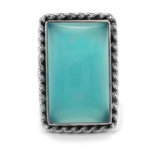 24ct Imperial Aqua Chalcedony Sterling Silver Aryonna Ring