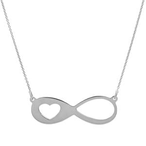 "18"" Sterling Silver Infinity Necklace 1.45g"