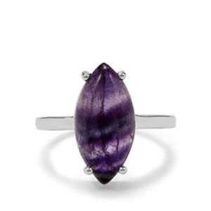 Argentine Rainbow Fluorite Ring in Sterling Silver 5.63cts
