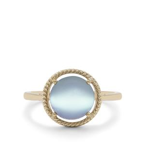 Blue Moonstone Ring in 9K Gold 3cts
