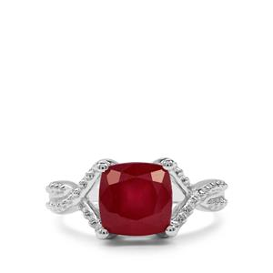 3.84ct Malagasy Ruby Sterling Silver Ring (F)