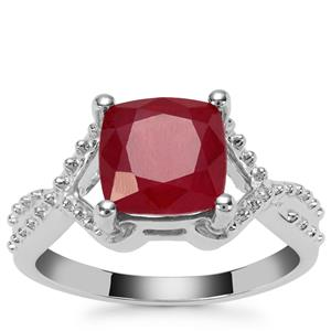 Malagasy Ruby Ring in Sterling Silver 3.84cts (F)