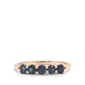 Australian Blue Sapphire Ring in 9K Gold 0.85ct