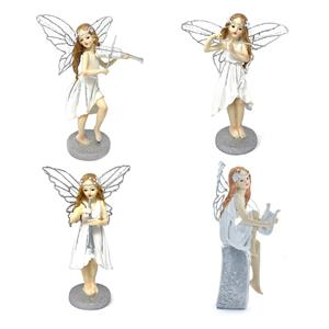 Gem Auras Fairy Figurines with Musical Instruments - 4 variations available