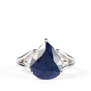 6.63ct Madagascan Blue Sapphire Sterling Silver Ring