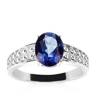 Royal Blue Topaz Ring in Sterling Silver 2.09cts