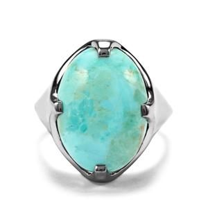 Arizona Turquoise Ring in Sterling Silver 9.97cts