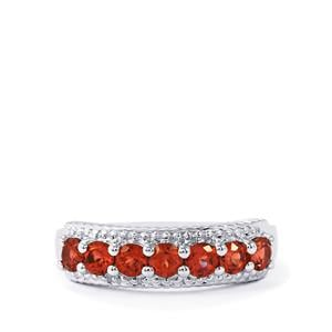 1ct Mozambique Garnet Sterling Silver Ring