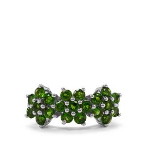 Chrome Diopside Ring in Sterling Silver 2.11cts