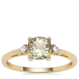 Csarite® Ring with White Zircon in 9K Gold 1.18cts