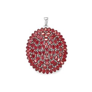 Malagasy Ruby Pendant in Sterling Silver 29.08cts (F)