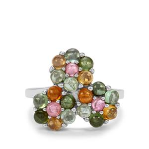 3.15ct Rainbow Tourmaline Sterling Silver Ring