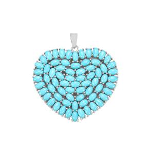 Sleeping Beauty Turquoise Pendant in Sterling Silver 12.45cts