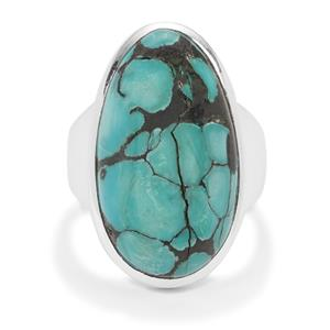 Lhasa Turquoise Ring in Sterling Silver 14.50cts